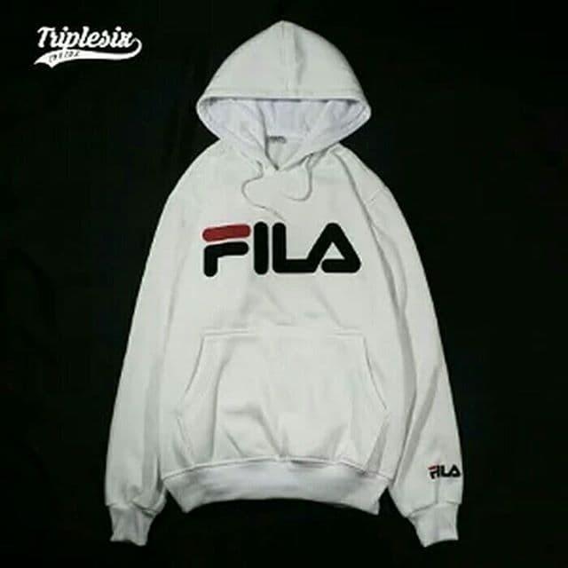 Jual Fila putih jaket sweater cewek cowok bandung distro m l xl - SM ... 35db0cd4d0