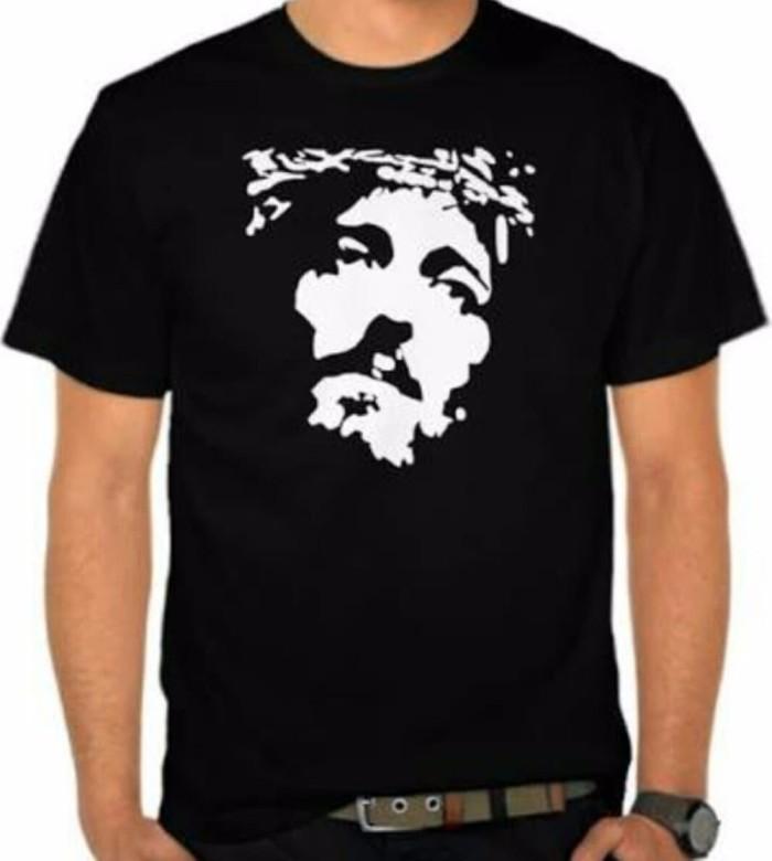 Jual Kaos Wajah Tuhan Yesus Baju Wajah Tuhan Yesus Tshirt Wajah Tuhan Yes Kota Bandung Bonafit Store Tokopedia