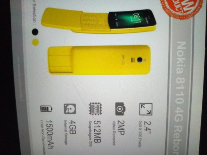 Foto Produk Nokia 8110 reborn new real 4g dari chandra hj