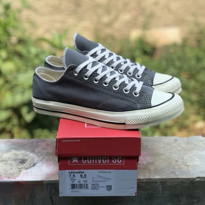 5eae1862820f67 Jual Sepatu Converse ALL Star Chuck Taylor 70s Low Grey White ...
