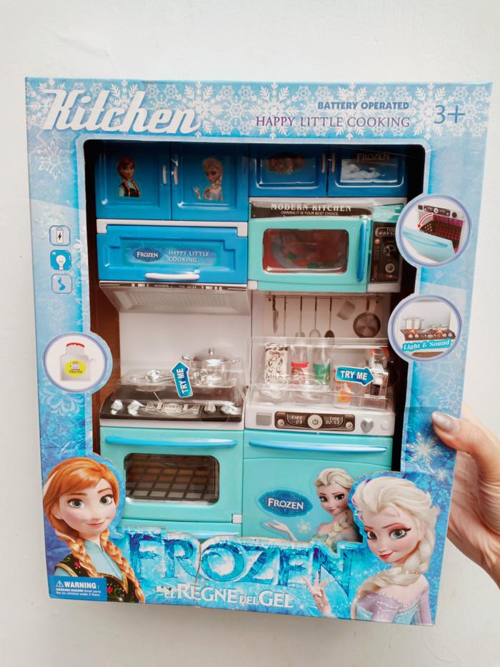 Jual Mainan Kitchen Set Frozen Nyala Suara Alat Dapur Chrome Kompor
