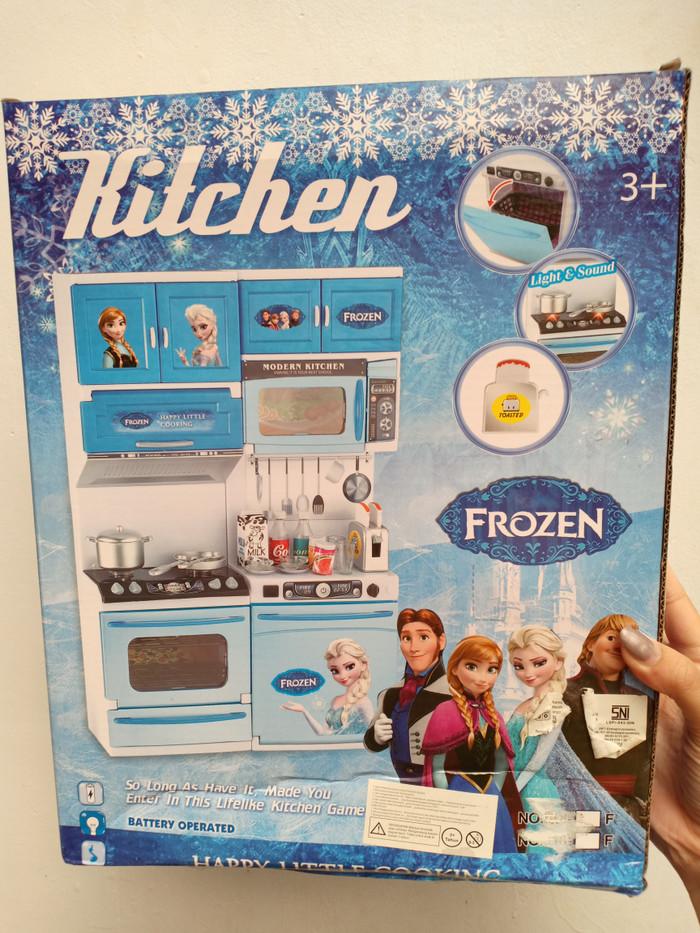 Harga Jual Mainan Kitchen Set Frozen Nyala Suara Alat Dapur Chrome