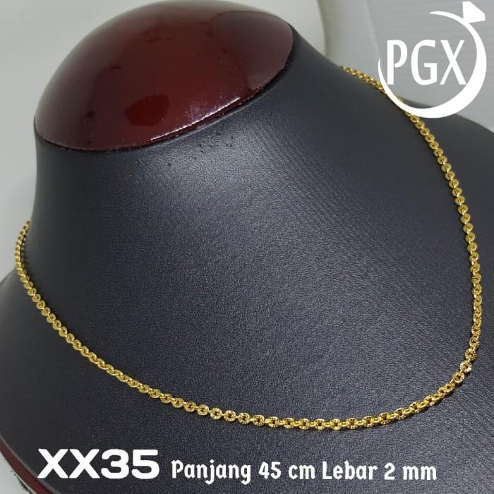 XX35 Kalung Pecah Kopi 45 cm Xuping Yaxiya - Perhiasan Lapis Emas 18K