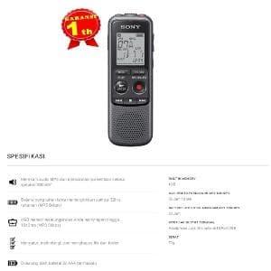 Jual SONY ICD PX240 VOICE RECORDER 4GB Barang Oke - DKI Jakarta - Galileo  Outdoor | Tokopedia