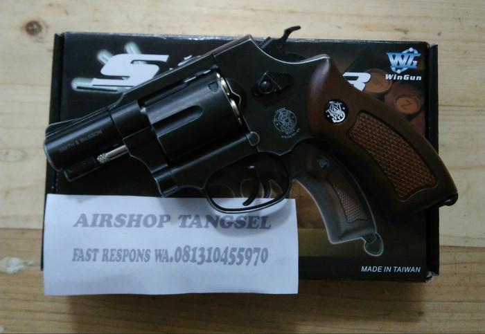 harga (promo hari ini..!!) revolver wg733 hitam besi unit+kta+skk+gotri+co2 Tokopedia.com