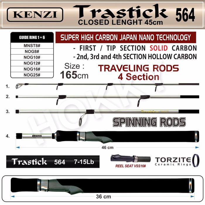 harga Joran stick pancing kenzi trastick 564 (7-15lb) Tokopedia.com