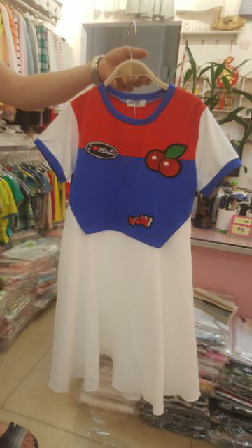 harga Baju anak tanggung cewek import branded dress korea cherry red blue  Tokopedia.com 17de9f8da9
