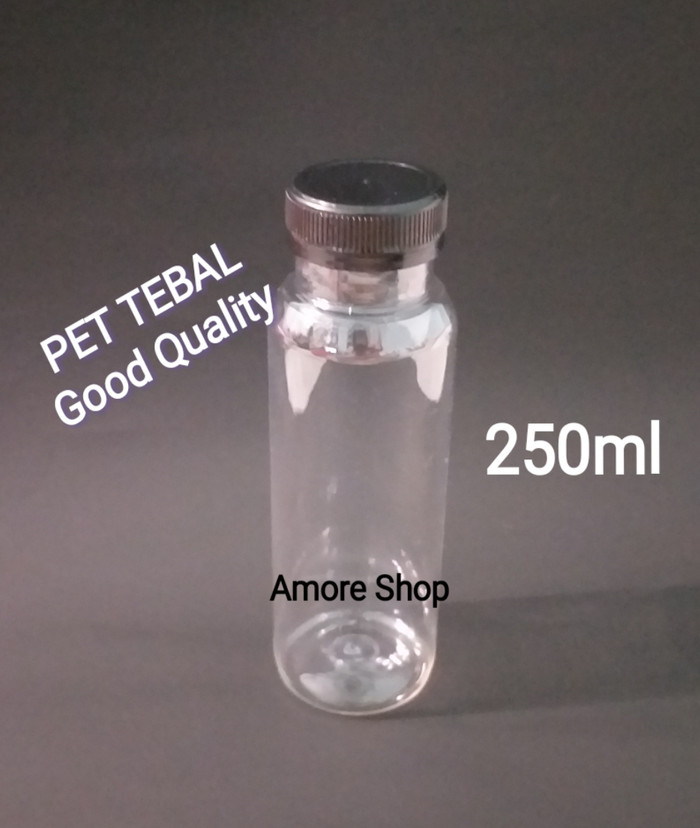 Botol Plastik Kale Tebal 250ml /Jus/Susu/Silky Puding/Teh/PET