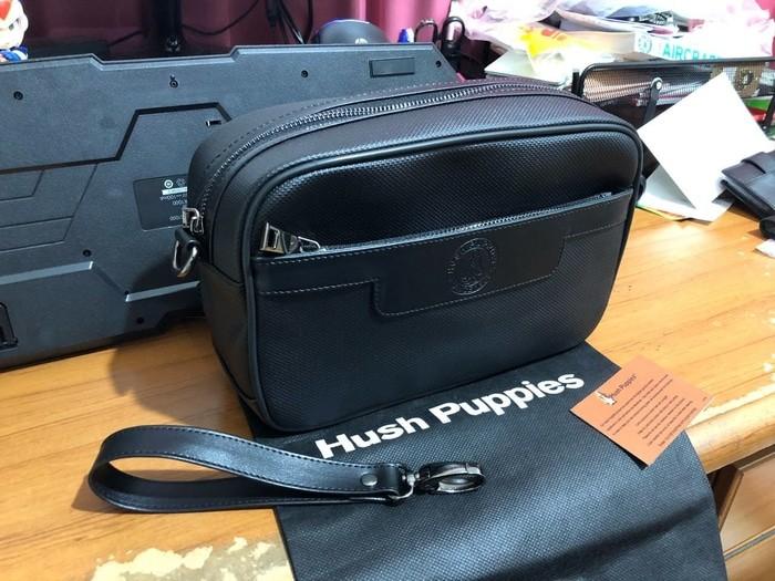 Jual Limited! .DOMPET HUSH PUPPIES 518--1 HITAM SUPER BAG COWOK ... c9ab16a8b9