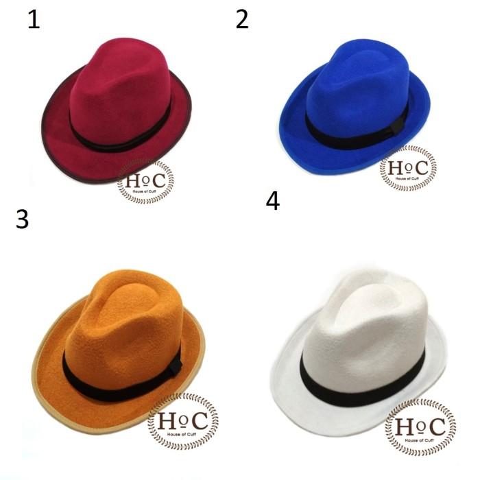Topi fedora panama hat jazz koboy hat topi pantai laken banyak… 85c7efc5bd