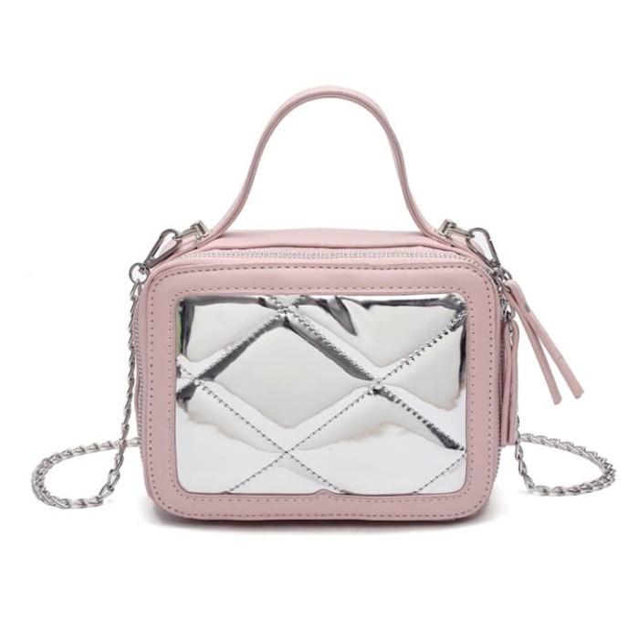 Tas Selempang Wanita Sling Bag Wanita import D3203 tersedia 4 warna - Merah  Muda af77697a2d
