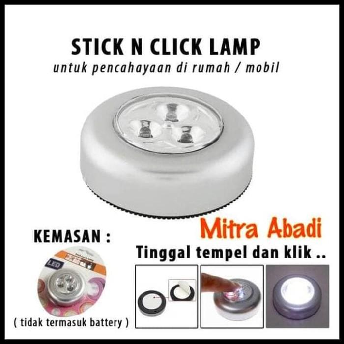 ... Stick N Click Lamp 3 Mata Led Lampu Tempel Emergency Stick Touch Lamp