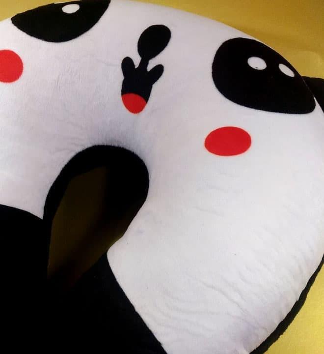 Bantal Leher Empuk & Padat / Travel Pillow Kualitas SNI - PANDA