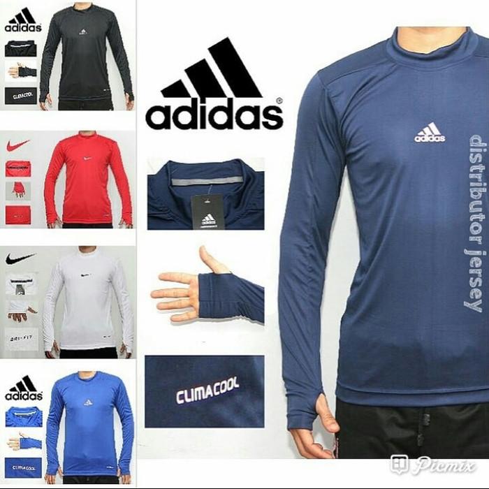 Jual Manset Baselayer Futsal Bola Olahraga Nike Merah Bahan Drifit 85afad702de0a