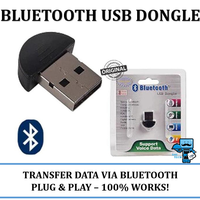 USB Bluetooth Dongle - For Computer Bluetooth Wireless Audio and Data