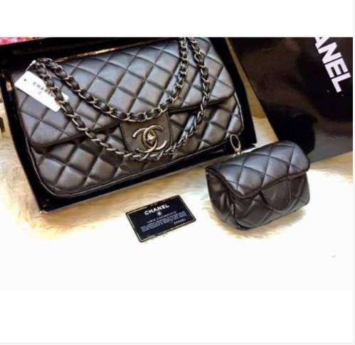 78371ccf1290 ... harga Tas chanel max tas hand bag chanel mom and kid ukuran medium+mini  bag