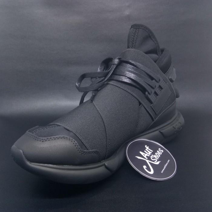 18faf7c143b5c Jual Adidas Y3 Qasa High Yohji Yamamoto Triple Black - Hitam