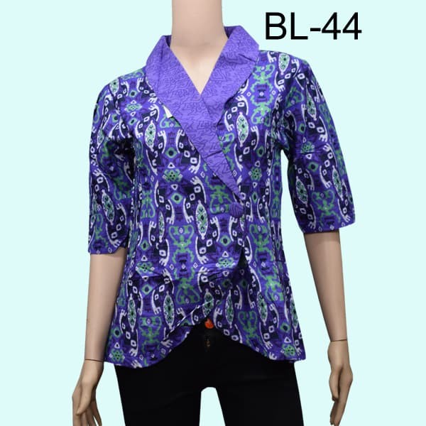 Jual Blouse Atasan Batik Wanita Model Kimono Motif Songket Ungu L Kota Surabaya Masshuta Tokopedia