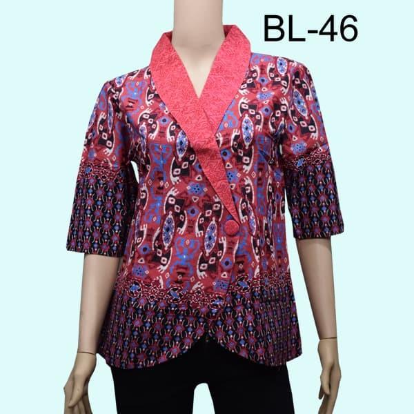 Jual Blouse Atasan Batik Wanita Model Kimono Motif Songket Ungu M Kota Surabaya Masshuta Tokopedia