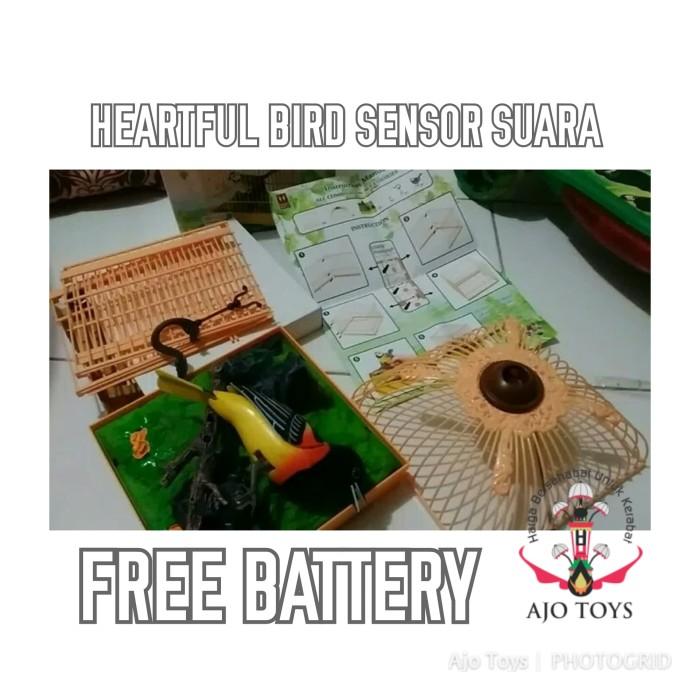 harga Mainan burung berkicau sangkar kotak sensor suara free battery Tokopedia.com