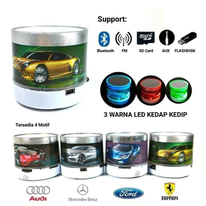 harga Mini speaker bluetooth led c1 motif mobil Tokopedia.com