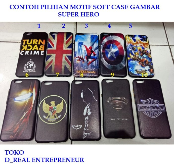 SOFT CASE MOTIF GAMBAR SUPER HERO XIAOMI REDMI NOTE 5A