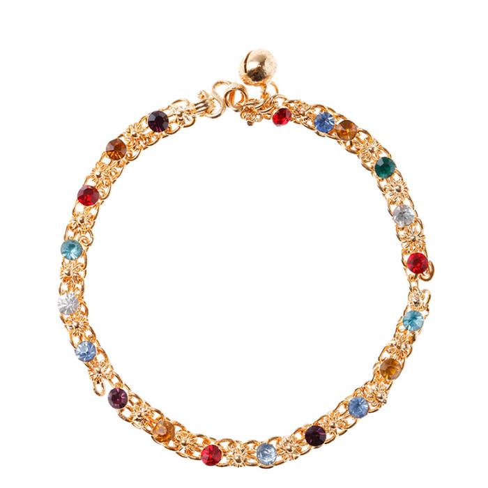 1901 Jewelry Gelang Rainbow 412 (lapis emas)