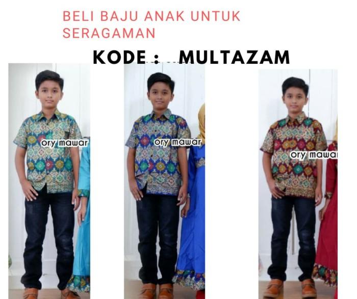 Jual Baju Batik Anak Cowok Saja Kode Multazam Untuk Seragaman Family Kota Surakarta Batik Jazz Solo Tokopedia