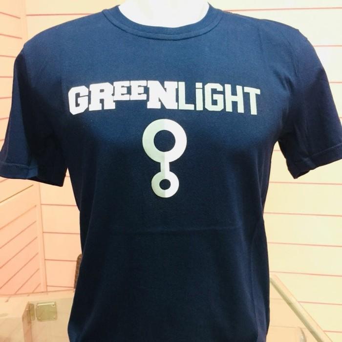Kaos Greenlight Ori buat cowok - Navy, L