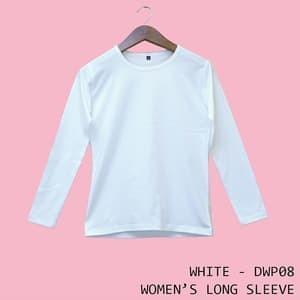 Jual Kaos Polos Baju Dewasa Wanita Lengan Panjang Warna Putih Dwp08 Putih Xl Kota Bandung Cheapapparel Tokopedia