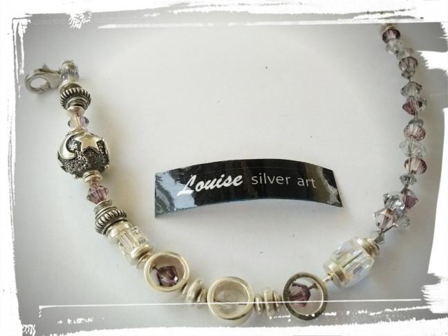 Crystal Silver 925 Bracelet Amethyst