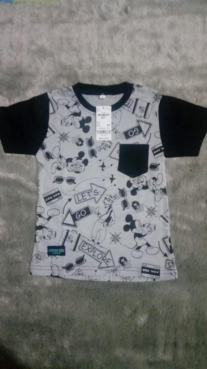 Jual Kaos Anak Laki Oshkosh Full Print Poket Size 6 Asti Kid Printing