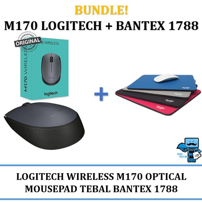 Foto Produk Mouse Wireless Logitech M170 + Mousepad Bantex 1788 - Bundle Deals! dari Das Livia Computer