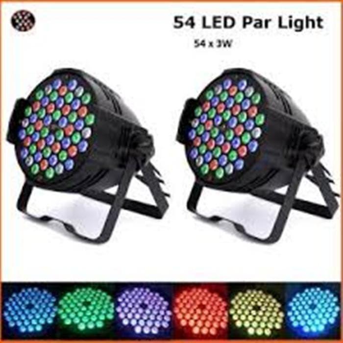 Lampu Sorot Panggung Led Par Light 54 RGB Cahaya Disko Disco Lamp LED