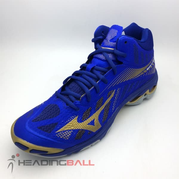 Sepatu Volley Mizuno Original Wave Lightning Z4 Mid Blue V1GA180551 2815fb094e