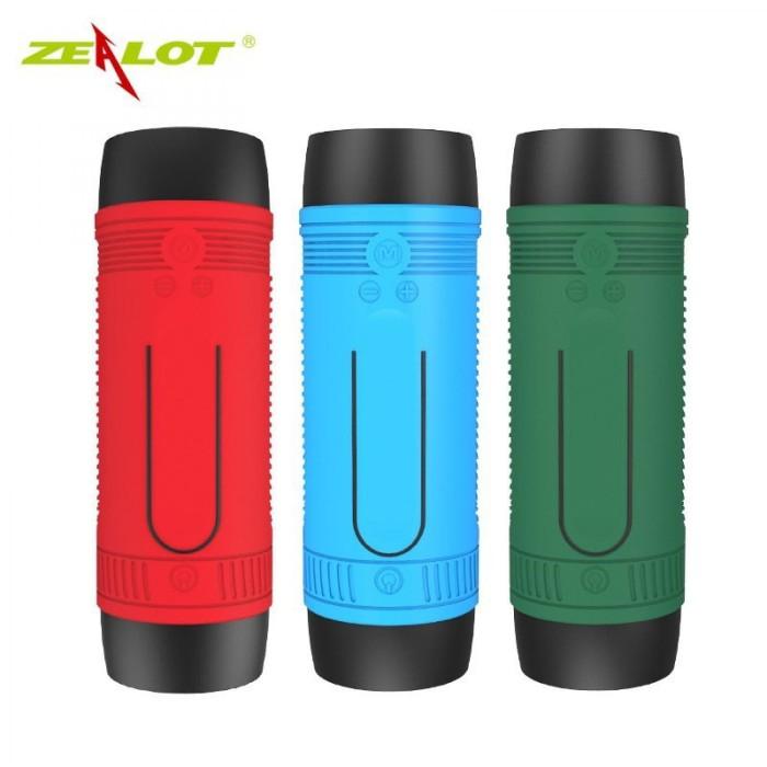 Zealot Bluetooth Speaker Waterproof dengan Powerbank 4000mAh & Senter