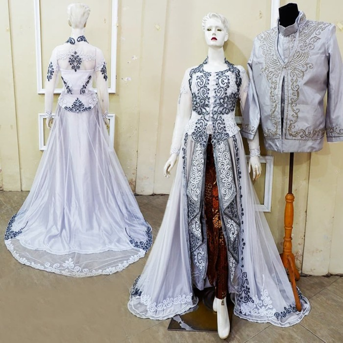 Jual Couple Kebaya Pengantin Modern Simple Basofi Gaun Pengantin Murah Kota Surakarta Butik My Kebaya Tokopedia