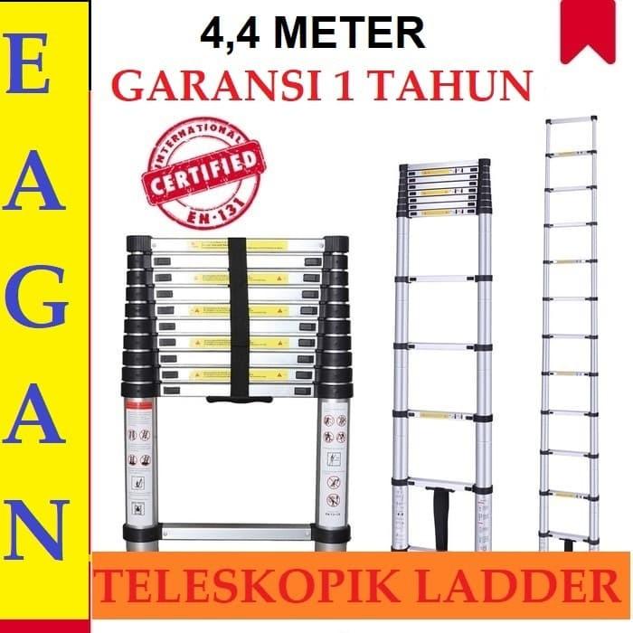 Jual Tangga Aluminium Teleskopik 4,4 Meter Single, Tangga ...