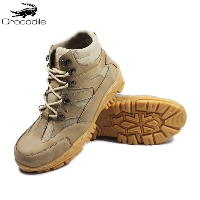 Sepatu Boots Pria Navigator Cream Safety Shoes Proyek Kerja Lapangan - Ivory, 39