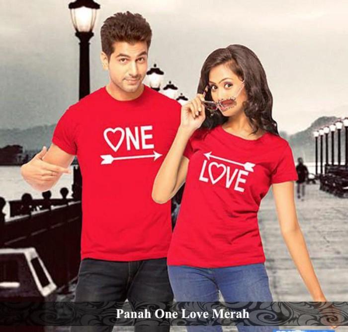 Foto Produk grosir kaos murah | kaos pasangan terlengkap | panah one love couple dari koleksi baju couple