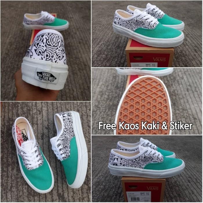 013a704254 Jual Sepatu Vans Authentic Tribal Tosca Premium Quality BNIB - Hijau ...