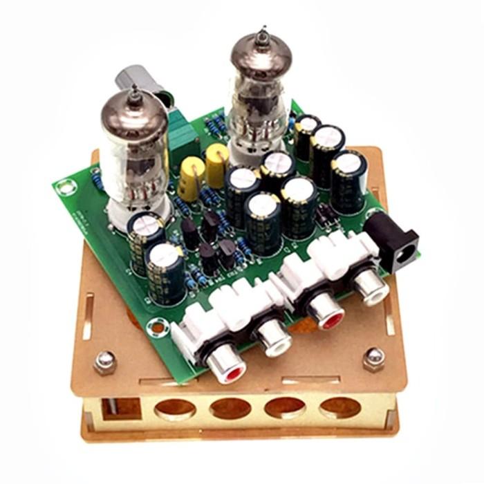harga 6j1 tube pre-amplifier + box acrylic preamp 12v tabung 6ak5 cv850 ef95 Tokopedia.com