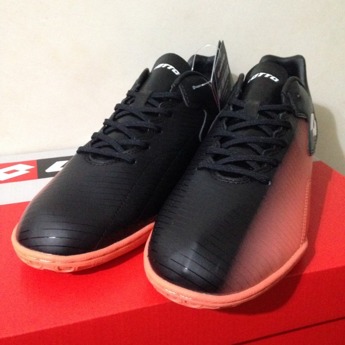 Jual Sepatu Futsal Lotto Severa IN Black Bright Peach L01040019 ... 49db5fca26