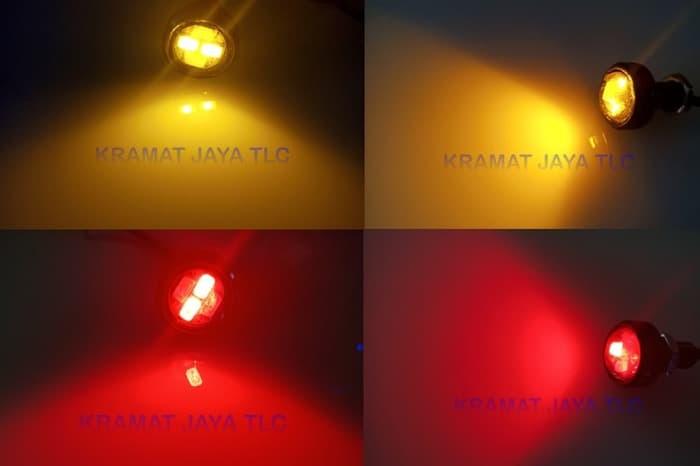 Lampu DRL LED Eagle Eye Mata Elang 2 Warna Sein Senja 1 Pcs