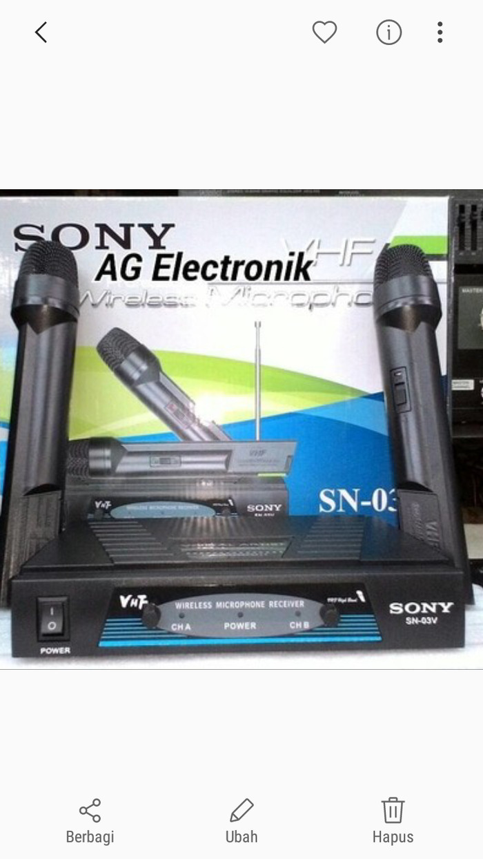 Jual Microphone Tanpa Kabel Cek Harga Di Mic Cina Sony Sn 700 Wireless Mik Wireles Dua Pegang Tokopedia