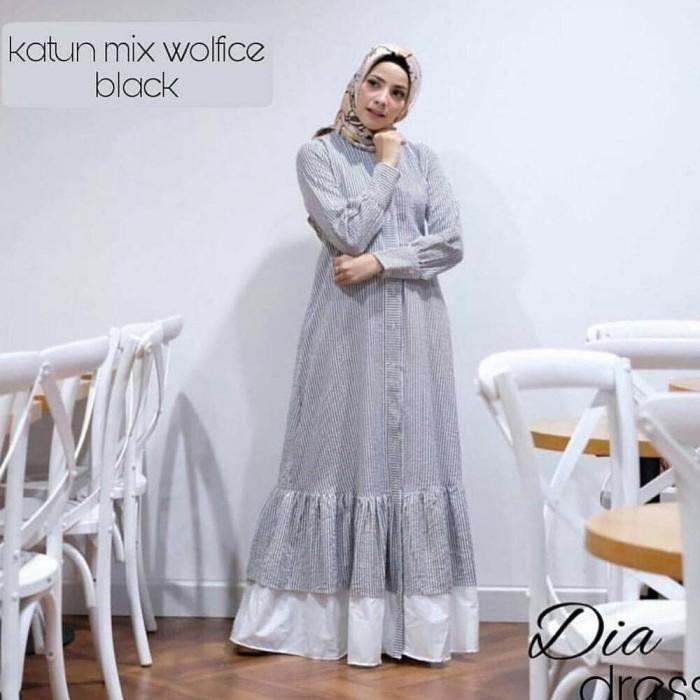 Jual Dia Dress - Trend Fashion Muslim 2018 - 22Li - Grosir Gamis ... a06a7da9c0