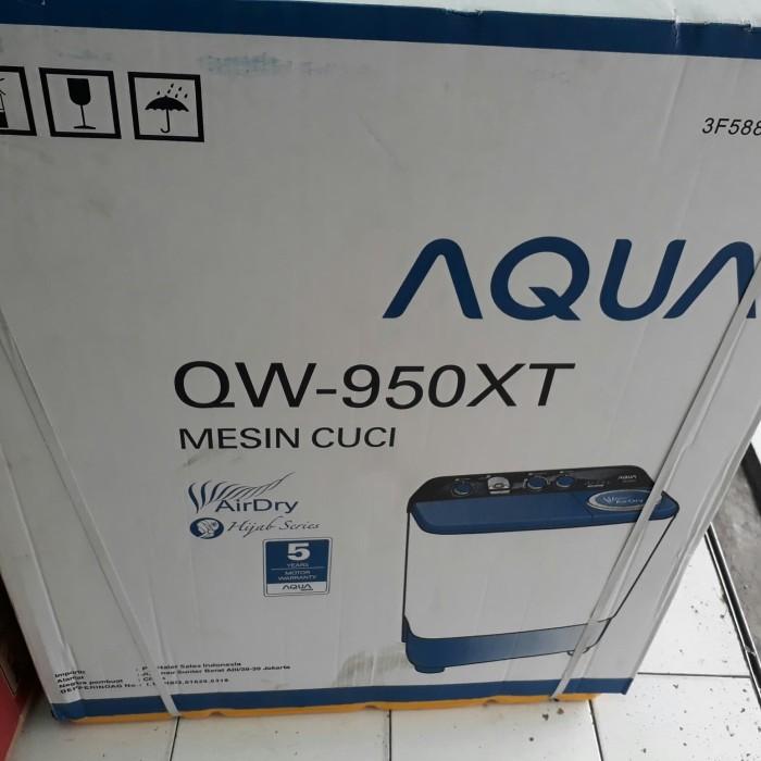 harga Mesin cuci 2 tabung aqua qw-950xt Tokopedia.com
