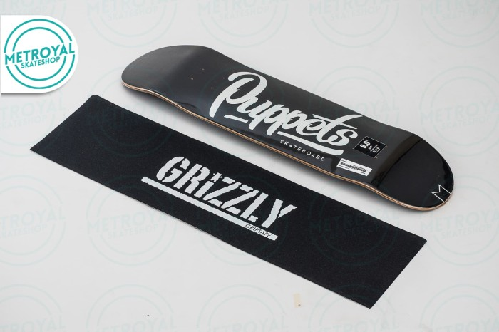 harga Skateboard deck - puppets slow logo black 8.0 Tokopedia.com