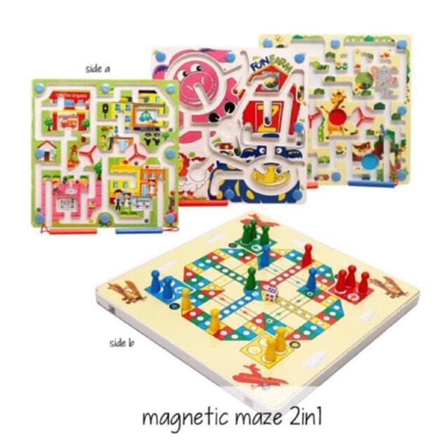 Edufuntoys - Magnetic Maze 2In1/ Maze Hewan/ Mainan Labirin Best