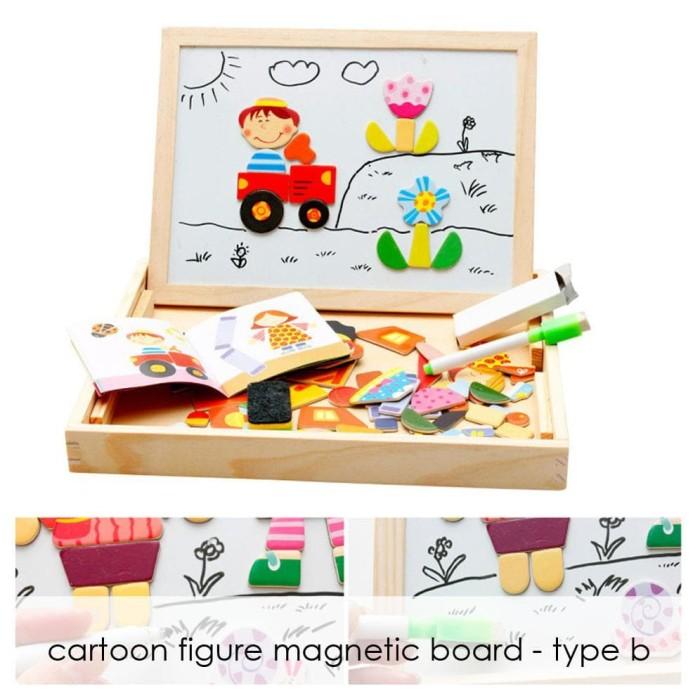 Edufuntoys - Cartoon Figure Type B - Magnetic Board/ Papan Tulis